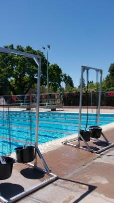 Velocity swim towers on deck